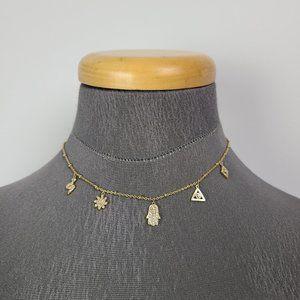 Stella & Dot Gold Choker Necklace